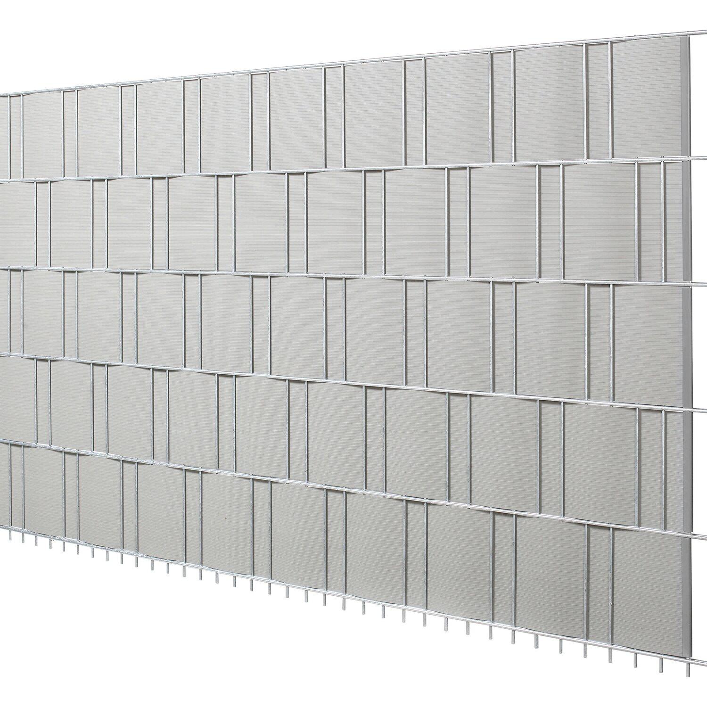 Pvc Sichtschutzstreifen Silbergrau Hohe 19 Cm Lange 201 5 Cm 5