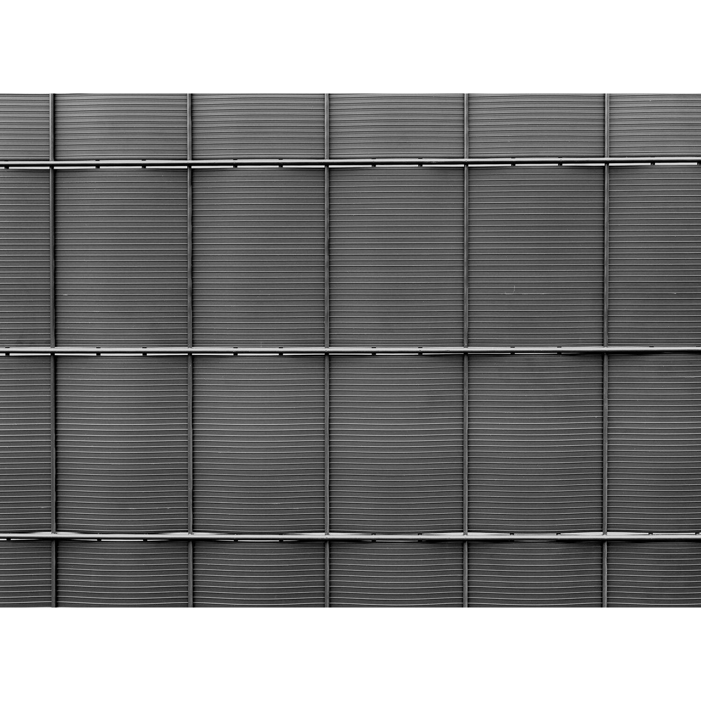 Pvc Sichtschutzstreifen Auf Rolle Anthrazit 24 Cm X 201 5 Cm 4er