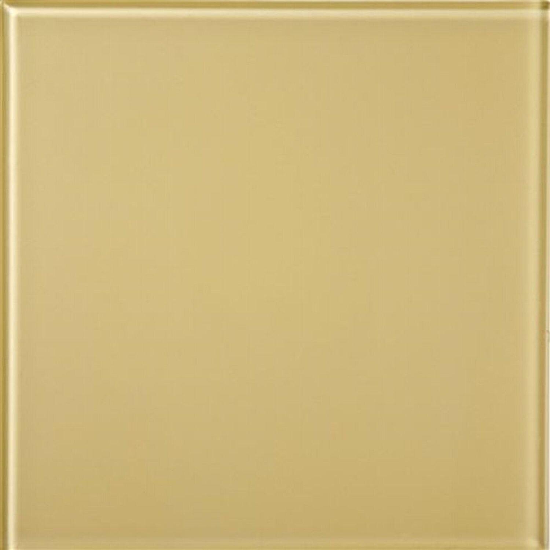 Sonstige Wandfliese Glas Glossy Beige 15 cm x 15 cm