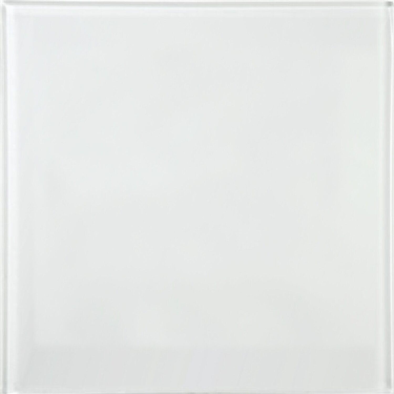 Sonstige Wandfliese Glas Glossy Weiß 15 cm x 15 cm