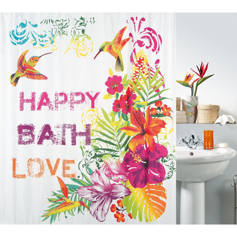 spirella duschvorhang textil formentera multicolor 180 cm x 200 cm kaufen bei obi. Black Bedroom Furniture Sets. Home Design Ideas