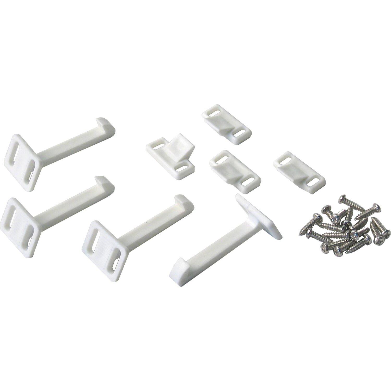 Sicherheitsriegel für Schubladen und Schranktüren Weiß 4 Stück ...