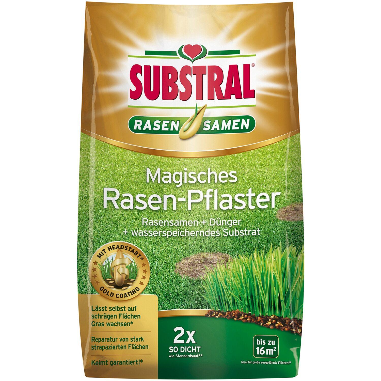 SUBSTRAL Magisches Rasen-Pflaster 14,4 kg Rasen Rasensamen Samen 5,97€//1kg