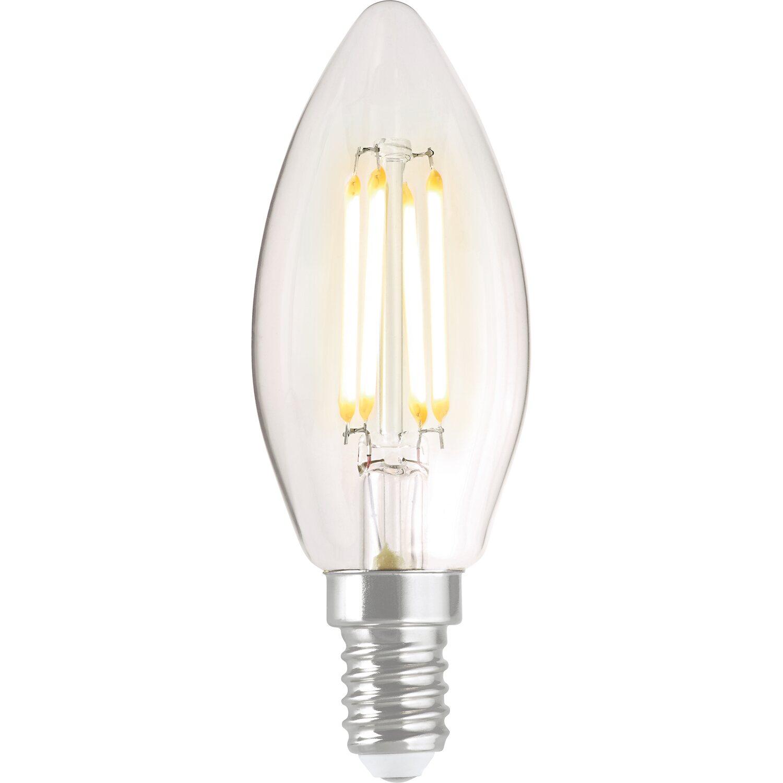 obi led filament leuchtmittel kerzenform e14 4 w 470 lm. Black Bedroom Furniture Sets. Home Design Ideas