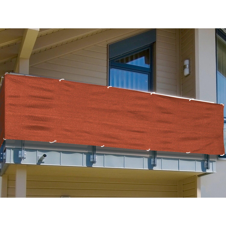 Balkonsichtschutz 90 cm Terracotta Meterware kaufen bei OBI