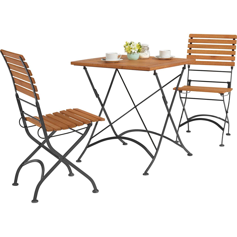 Balkonmöbel set metall  OBI Bistro-Set Montgomery Rechteckig 75 cm x 70 cm x 70 cm kaufen ...