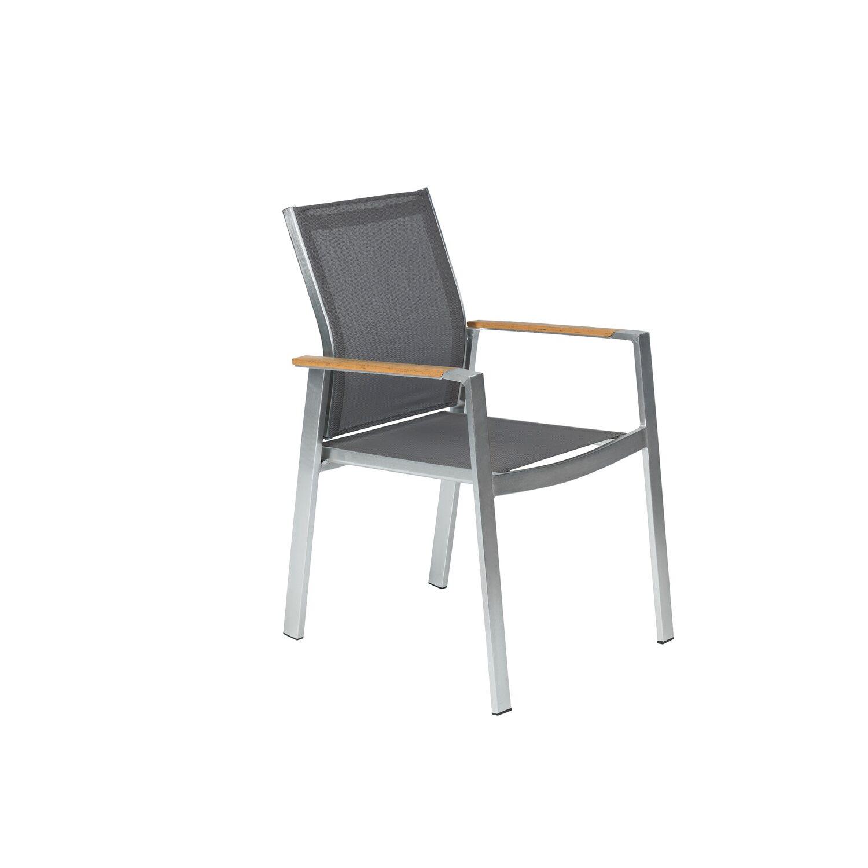 OBI Gartenstuhl Sudbury stapelbar Alu/Textil Grau kaufen bei OBI