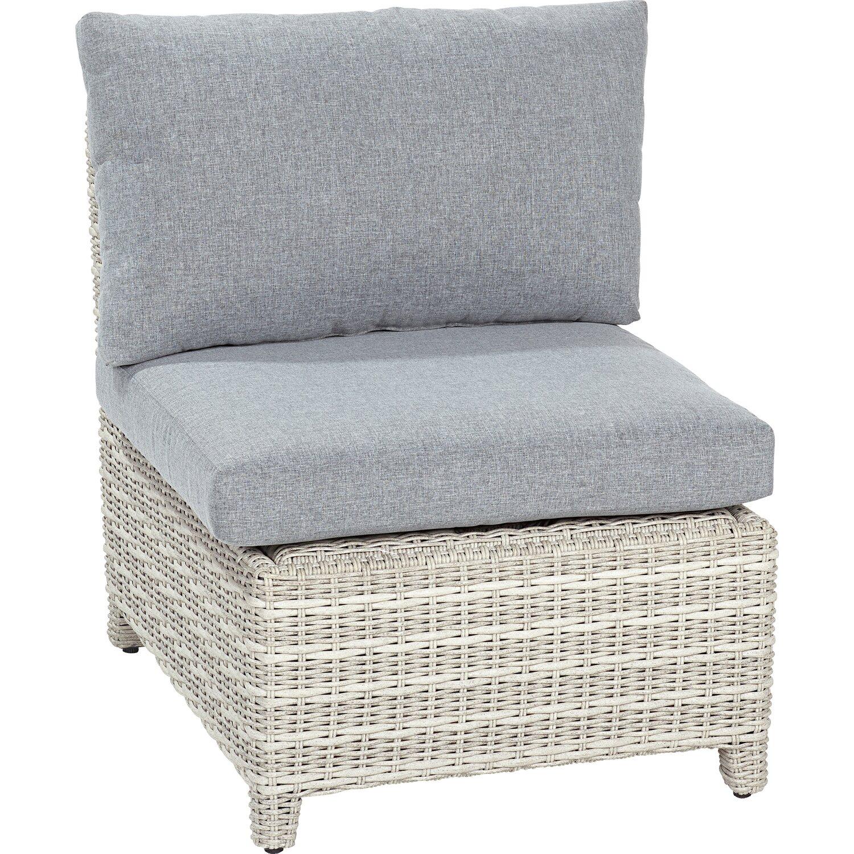 obi lounge mittelteil springside polyrattan naturgrau kaufen bei obi. Black Bedroom Furniture Sets. Home Design Ideas