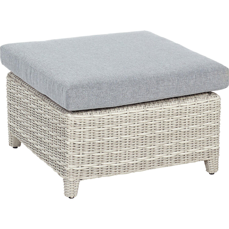obi lounge hocker springside polyrattan naturgrau kaufen bei obi. Black Bedroom Furniture Sets. Home Design Ideas