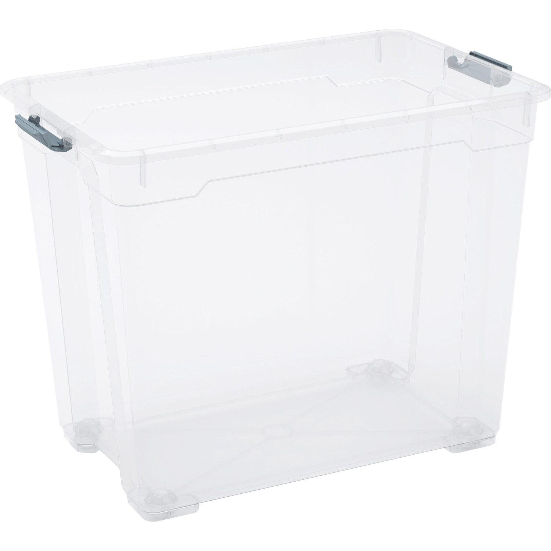 obi allzweckbox cadiz xxl mit 4 rollen transparent kaufen bei obi. Black Bedroom Furniture Sets. Home Design Ideas