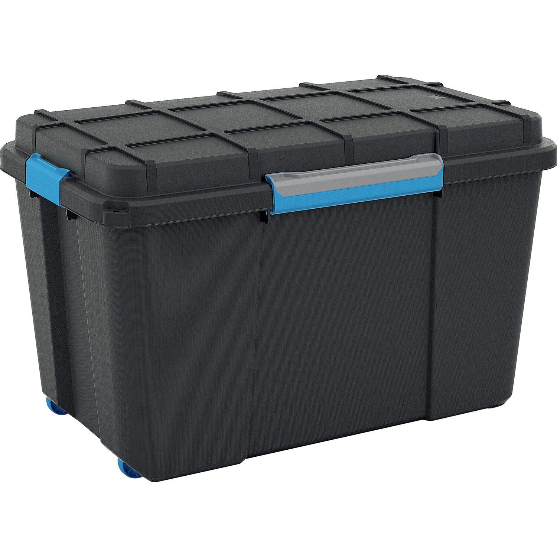 aufbewahrungsbox scuba xl mit silikonring im deckel und 4 rollen schwarz kaufen bei obi. Black Bedroom Furniture Sets. Home Design Ideas