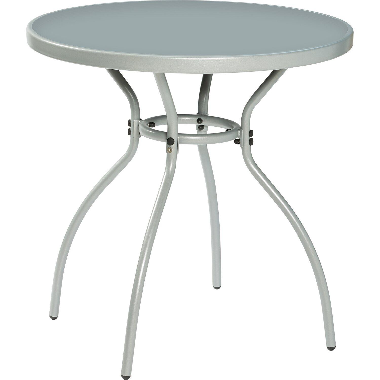 glas gartentisch rund 75 cm grau kaufen bei obi. Black Bedroom Furniture Sets. Home Design Ideas