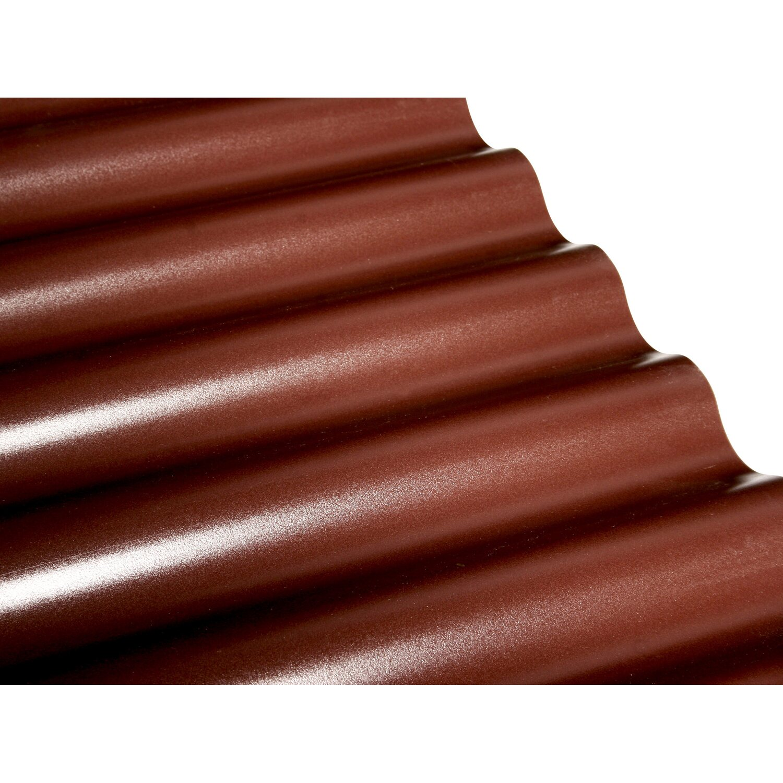 PVC Wellplatte Sinus 76 18 Braun 80 Cm X 120 Starke 1