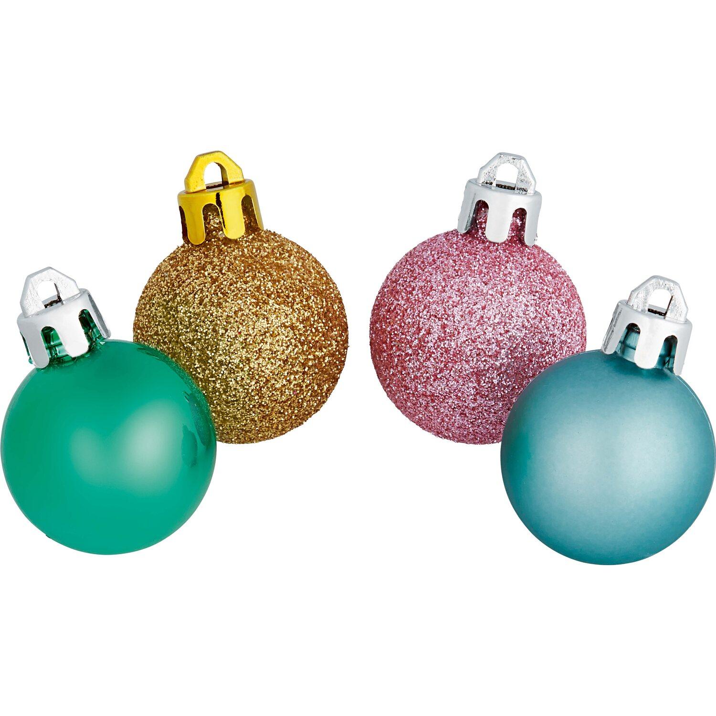 Baumschmuck set 9 teilig 4 farbig kaufen bei obi - Obi weihnachtskugeln ...