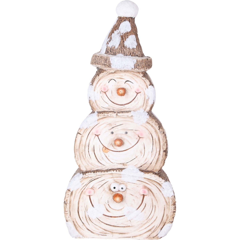 Weihnachtsdeko Aussen Schneemann.Deko Figur Schneemann Mit Mütze Polystone Innen Und Außen Kaufen Bei Obi