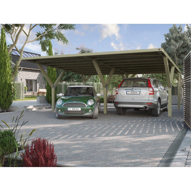 Weka Doppelcarport Mugello B 594 cm x 606 cm   Baumarkt > Garagen und Carports > Carports   Weka