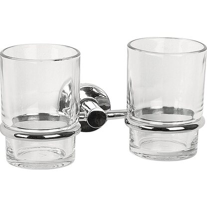 Spirella Zahnbecher Atlantic Chrome Clear 2er Set