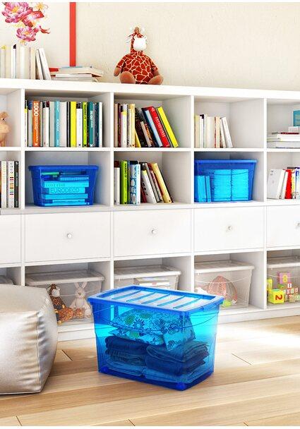 Aufbewahrungsbox Home XL mit 4 Rollen blau