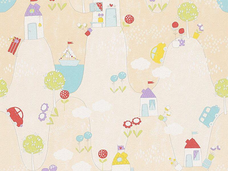 a s creation papiertapete boys girls 5 natur beige. Black Bedroom Furniture Sets. Home Design Ideas