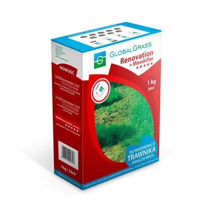Global Grass Mieszanka traw Renovation + Mosskiller 1 kg
