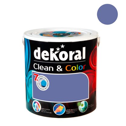 Dekoral Emulsja Clean & Color lawendowy welwet 2,5 l