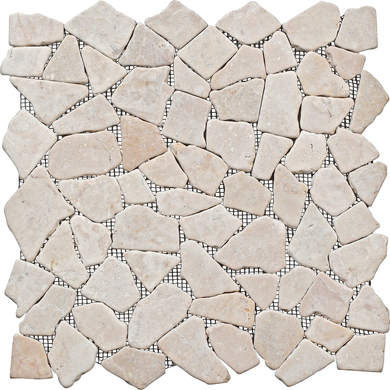 Bruchmosaikmatte Cream 30,5 cm x 30,5 cm
