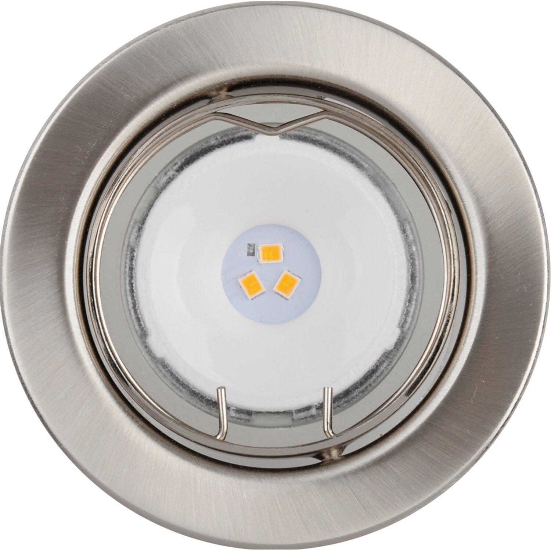LED-Einbauleuchten 3er-Set Nickel gebürstet EEK: A+