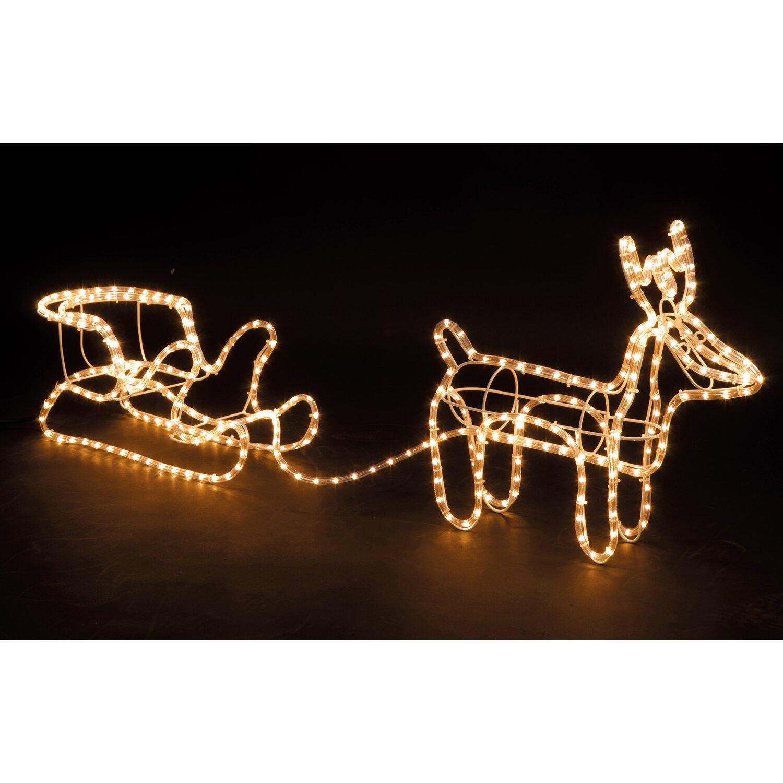 Weihnachtsbeleuchtung Schlitten Rentiere.Lichterschlauch Rentier Mit Schlitten Warmweiß Kaufen Bei Obi