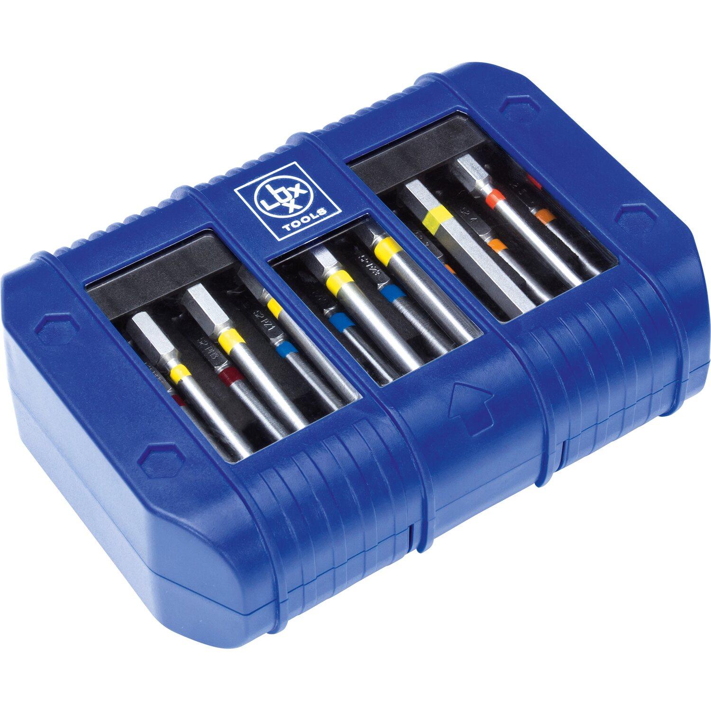 LUX Bit-Set 19-teilig | Baumarkt > Werkzeug > Werkzeug-Sets | Blau | Stahl | LUX-TOOLS