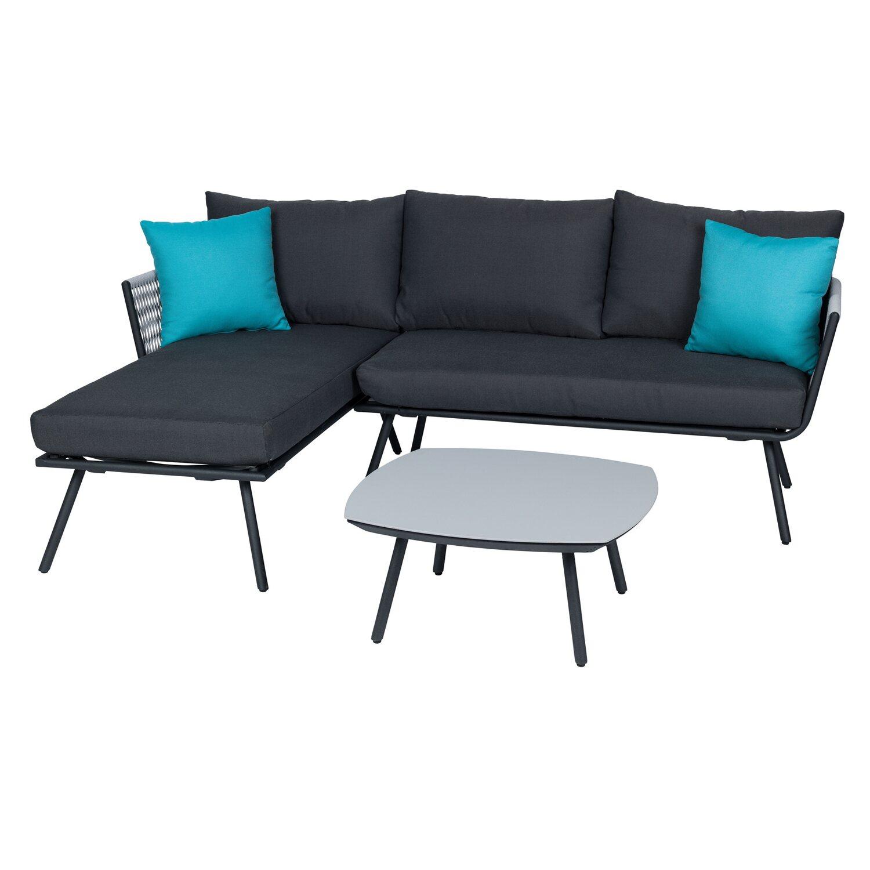 obi sofa gruppe willow lake inkl auflagen und kissen 3 tlg kaufen bei obi. Black Bedroom Furniture Sets. Home Design Ideas
