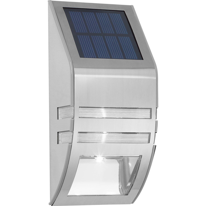 led solar wandleuchte edelstahl kaufen bei obi. Black Bedroom Furniture Sets. Home Design Ideas