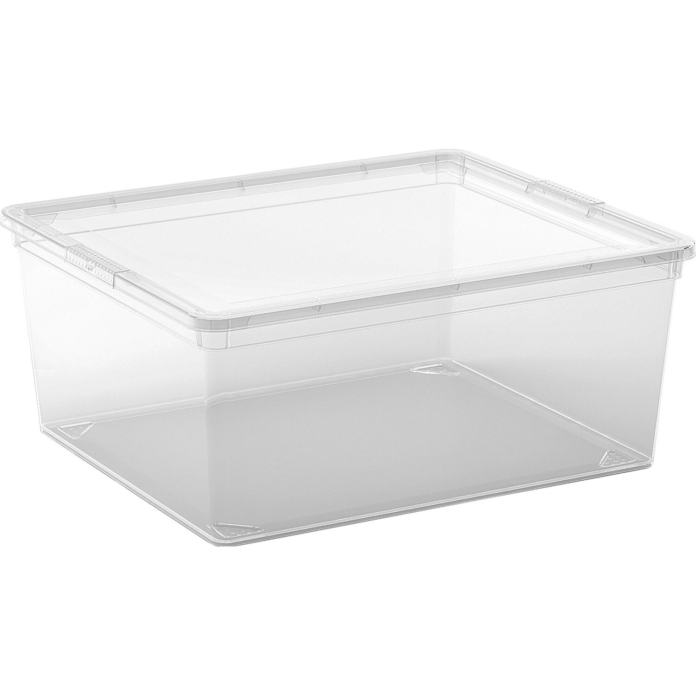 aufbewahrungsbox c m mit deckel transparent kaufen bei obi. Black Bedroom Furniture Sets. Home Design Ideas