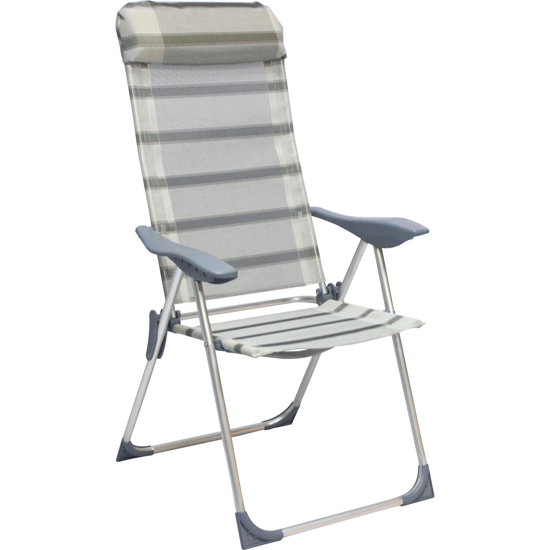 Camping Klappstuhl Mit Armlehne Grau Kaufen Bei Obi