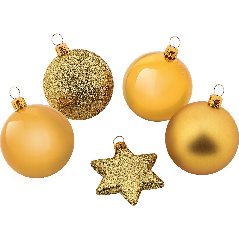 Weihnachtskugel set 50 teilig gold kaufen bei obi - Obi weihnachtskugeln ...
