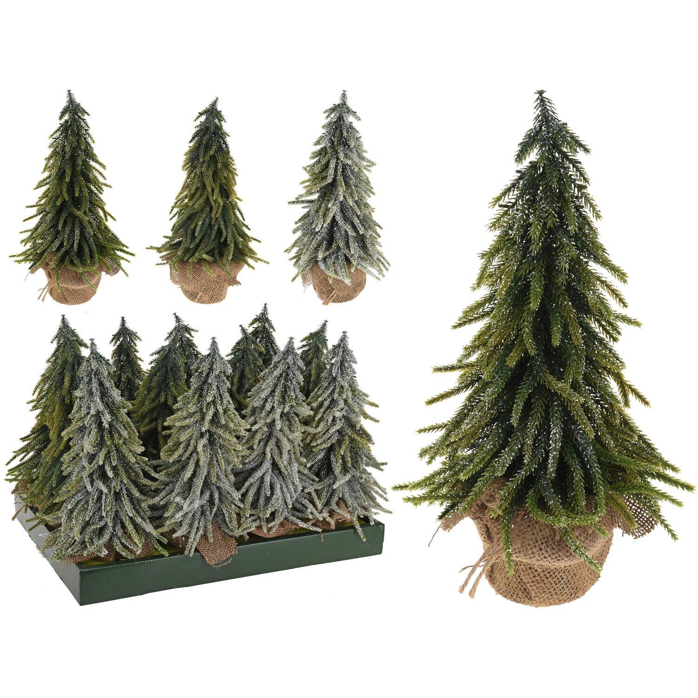k nstlicher weihnachtsbaum im jutesack 35 cm 3fach sortiert kaufen bei obi. Black Bedroom Furniture Sets. Home Design Ideas