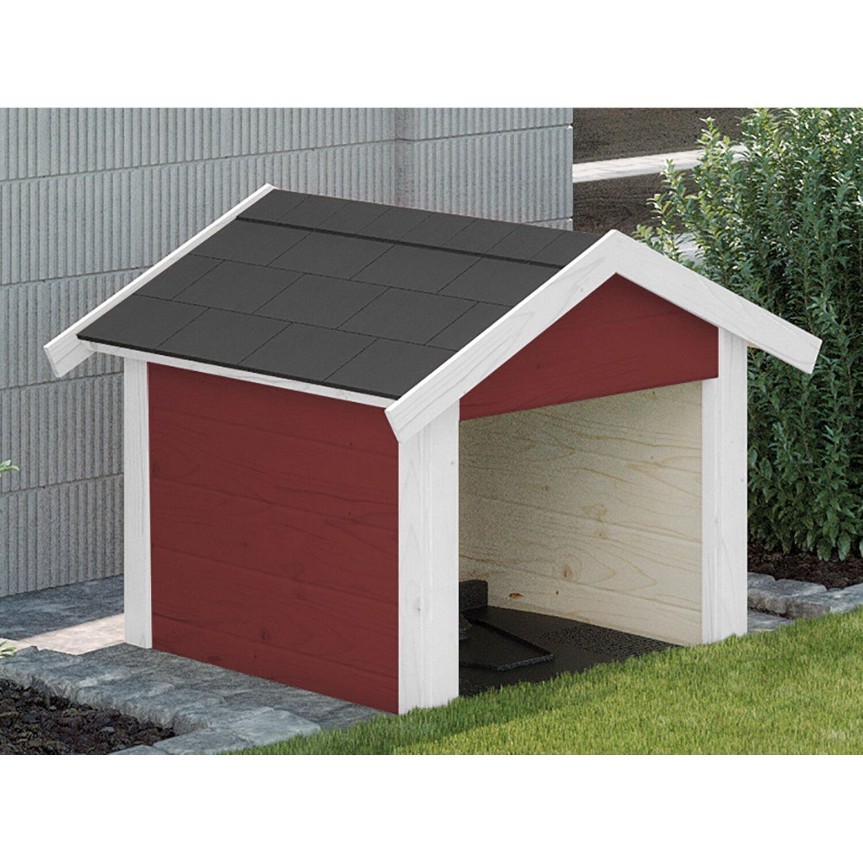 Weka Garage für Mähroboter/Rasenroboter Rot