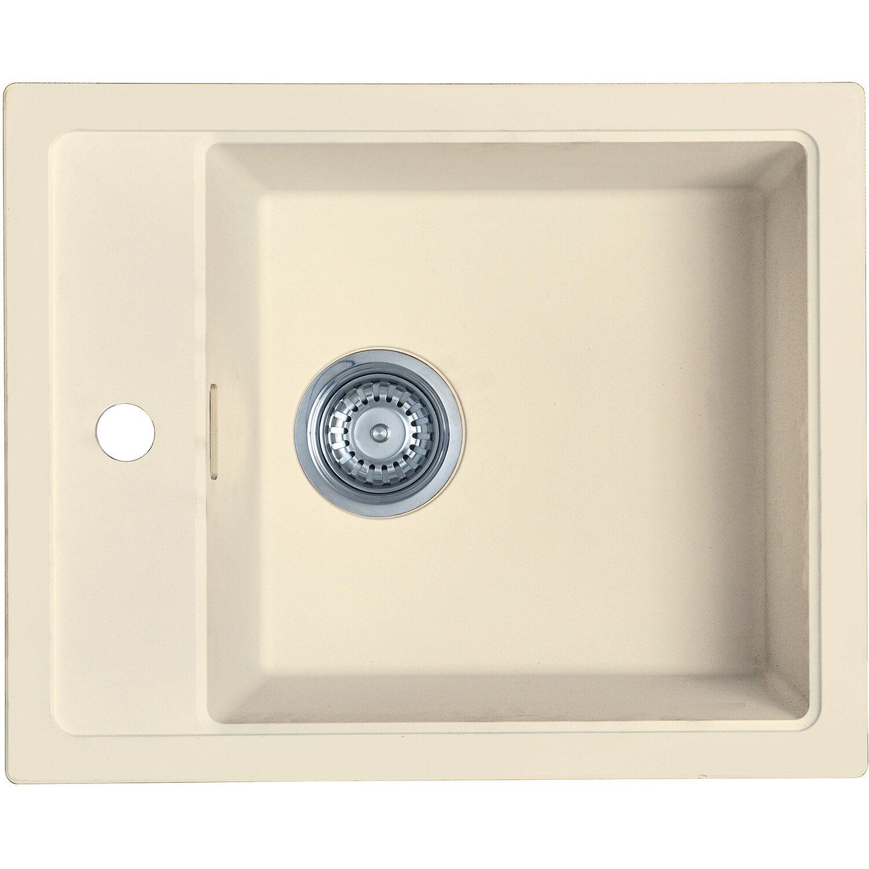 Eurodomo Einbauspüle Sonera 43 cm Beige | Küche und Esszimmer > Spülen | eurodomo