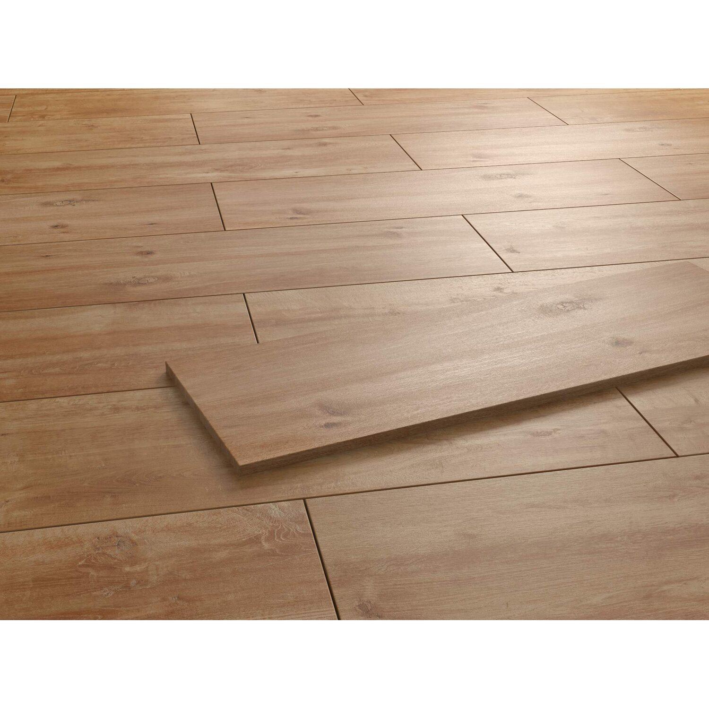 Terrassenplatte Feinsteinzeug Vero 220.20 Holzoptik Natur 420 x 122020 cm