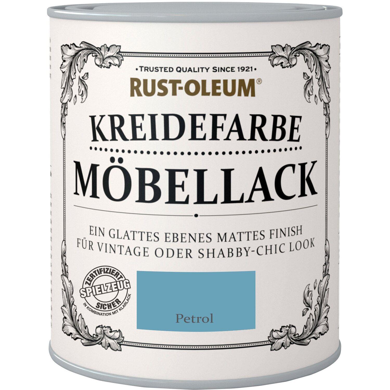 Rust-Oleum Möbellack Kreidefarbe Petrol Matt 750 ml