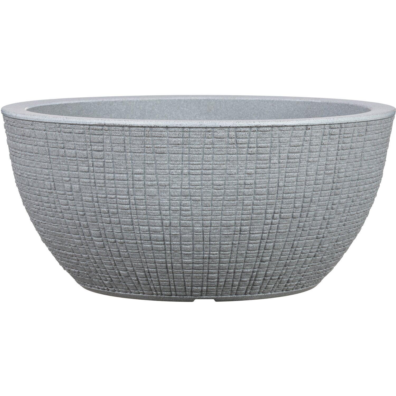 Scheurich Pflanzschale Barceo Ø 39 cm x 18 cm Stony Grey