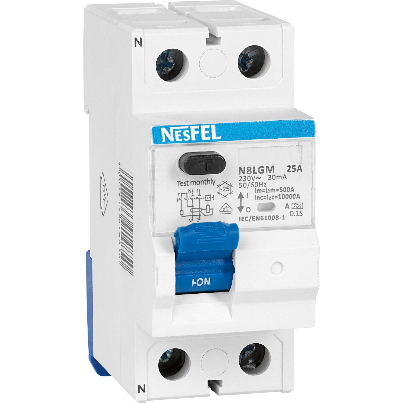 FI-Schalter 2-polig 25 A/0,03 A kaufen bei OBI