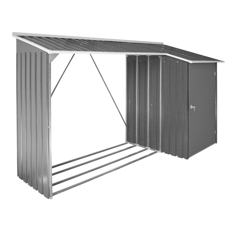 tepro kaminholzregal mit aufbewahrungsschrank anthrazit wei kaufen bei obi. Black Bedroom Furniture Sets. Home Design Ideas