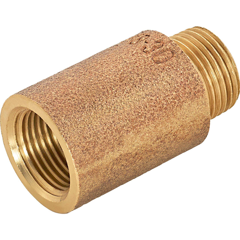 OBI Hahnverlängerung 14,9 mm (Rp 3/8) x 16,7 mm (R 3/8) Rotguss 30 mm