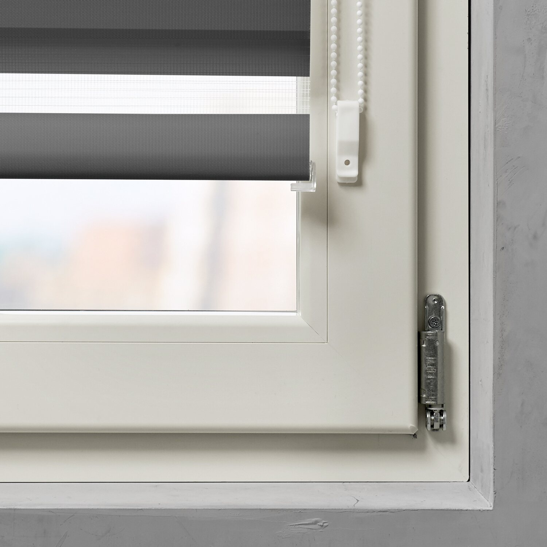 cocoon mini doppelrollo 17 mm grau 90 cm x 150 cm kaufen bei obi. Black Bedroom Furniture Sets. Home Design Ideas