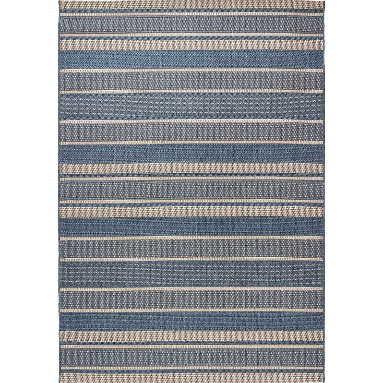 obi teppich toleda blau gestreift 140 cm x 200 cm kaufen bei obi. Black Bedroom Furniture Sets. Home Design Ideas