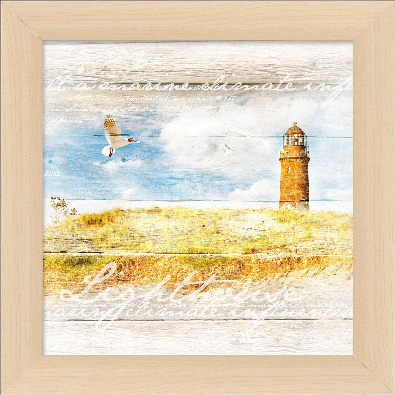 Bild mit Rahmen Wooden Wind Mil I 38 cm x 38 cm kaufen bei OBI