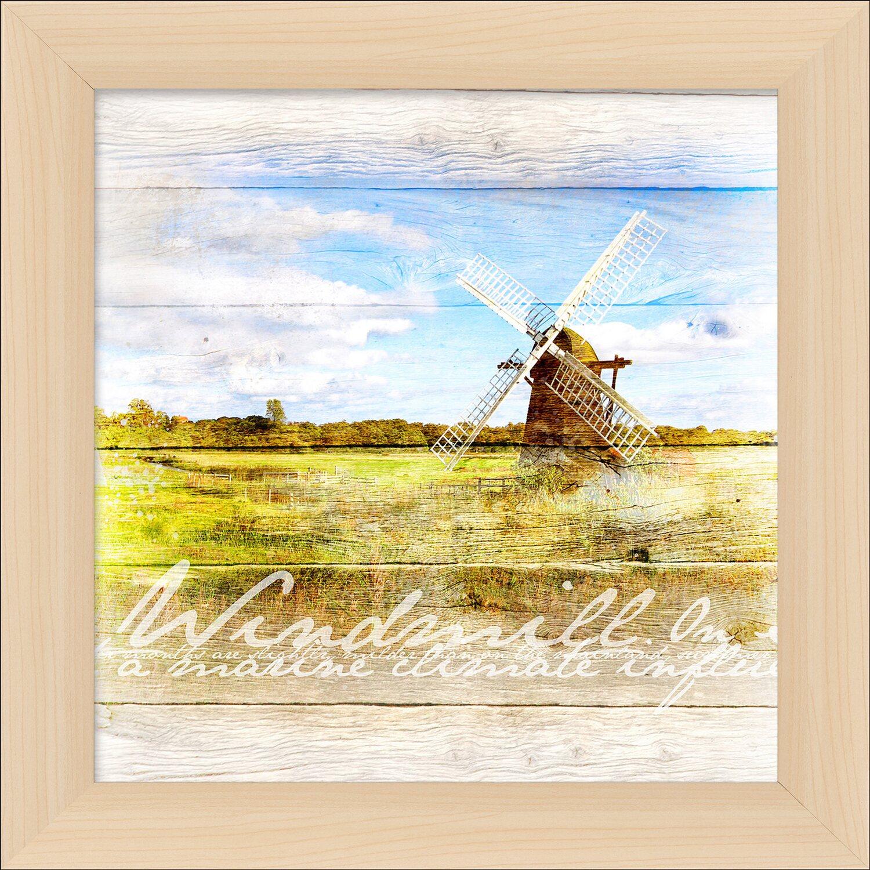 Bild mit Rahmen Wooden Wind Mil II 38 cm x 38 cm kaufen bei OBI