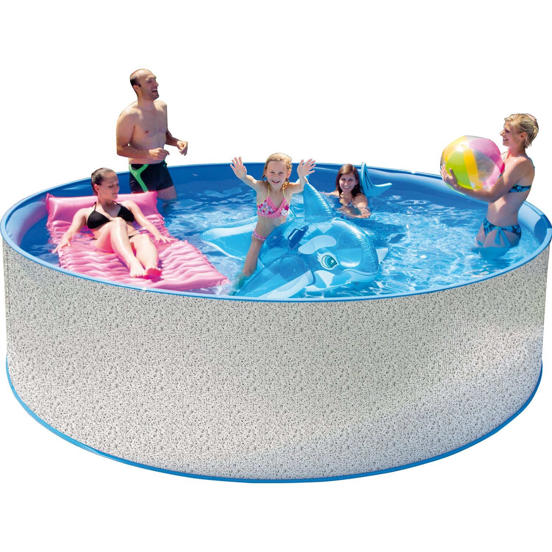 steinbach stahlwand pool set new splasher secure 350 cm. Black Bedroom Furniture Sets. Home Design Ideas