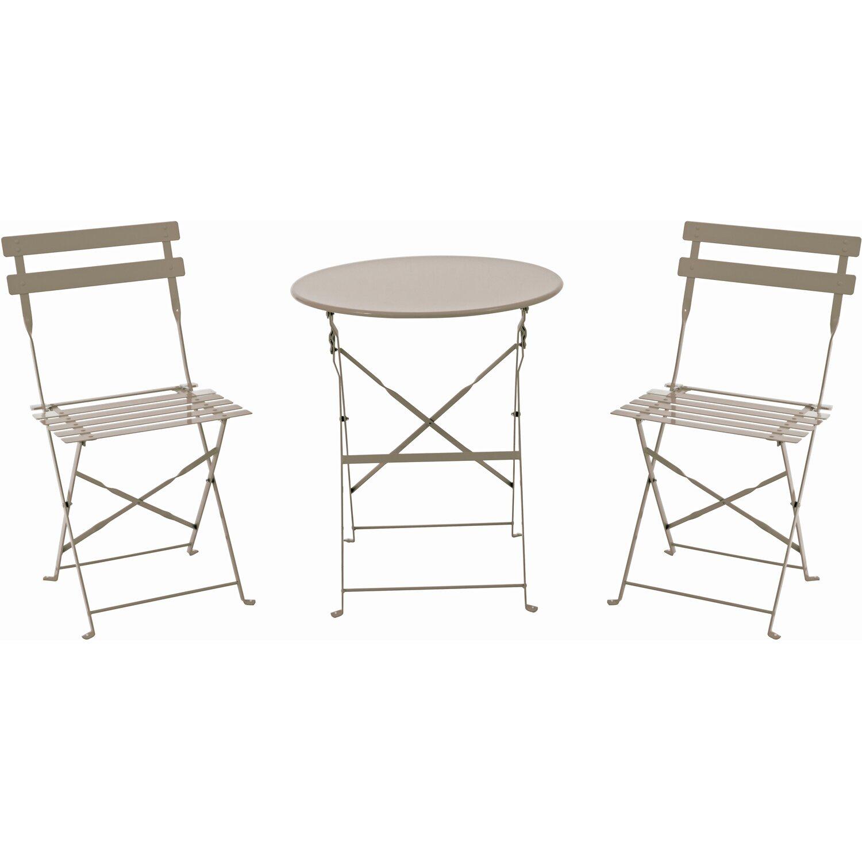 bistro set grau 3 teilig kaufen bei obi. Black Bedroom Furniture Sets. Home Design Ideas