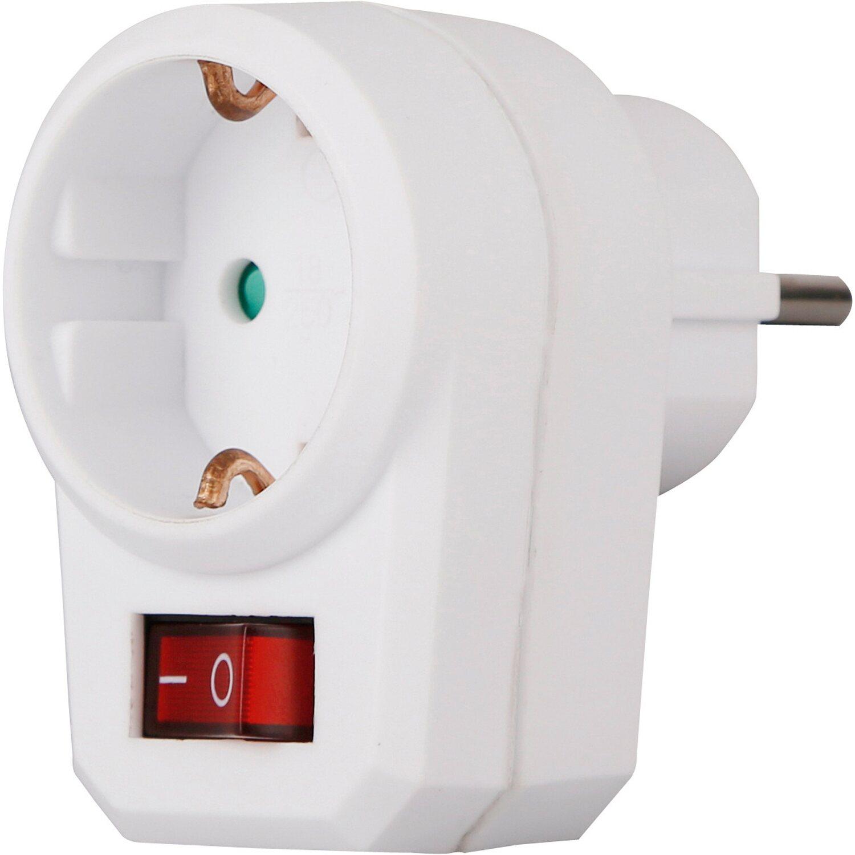 schutzkontakt-adapter-stecker mit schalter weiß kaufen bei obi